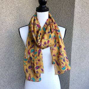 Accessories - Sheer linen paisley scarf